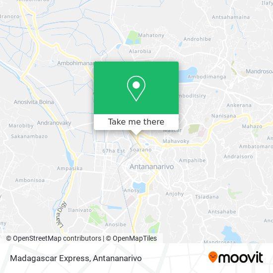 Madagascar Express map