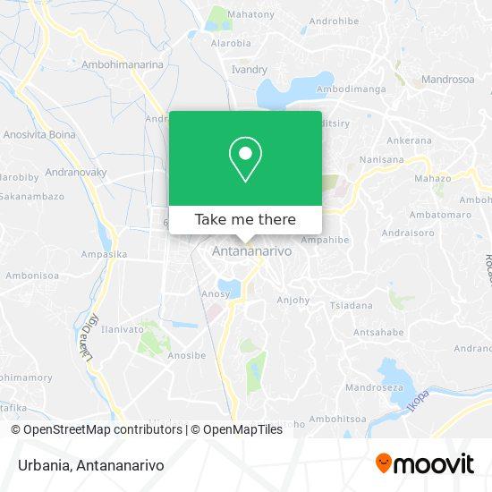 Urbania map