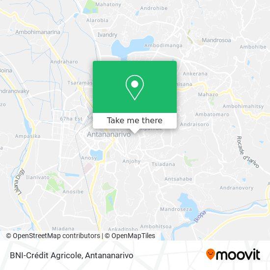 BNI-Crédit Agricole map