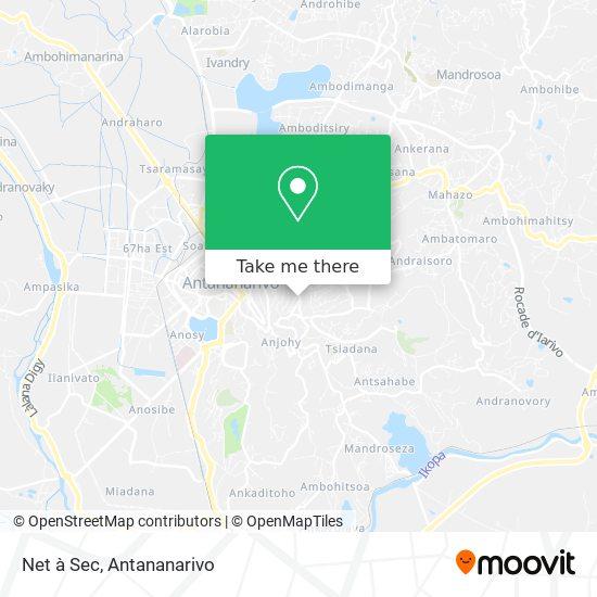 Net à Sec map