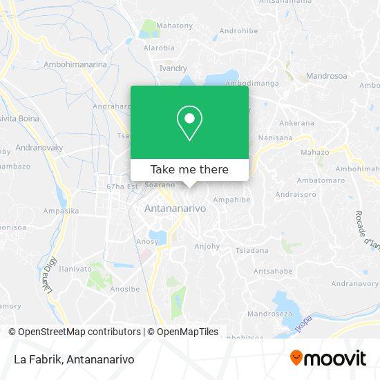 La Fabrik map
