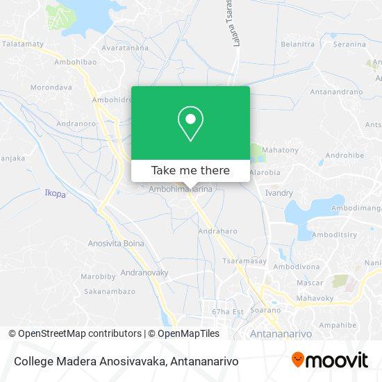 College Madera Anosivavaka map