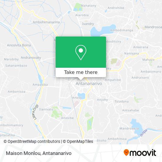 Maison Monlou map