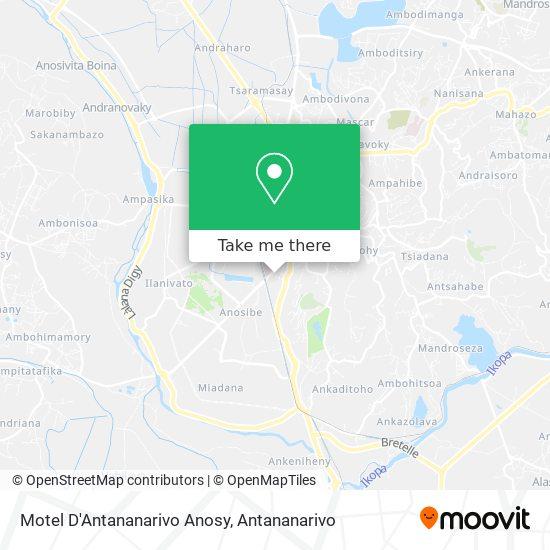 Motel D'Antananarivo Anosy map