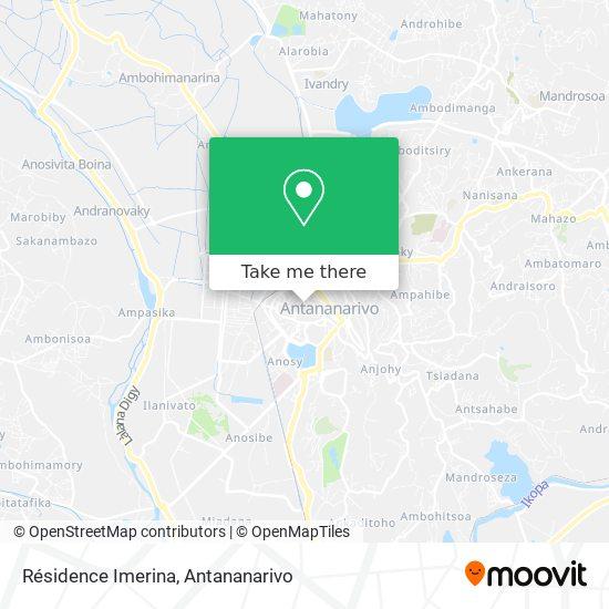 Résidence Imerina map