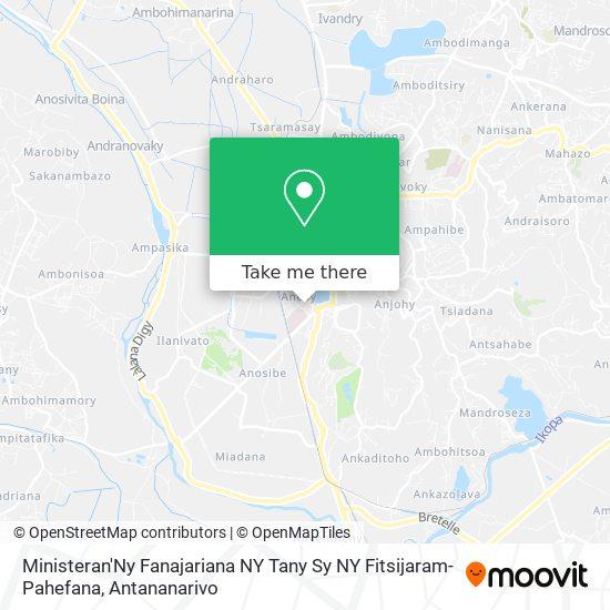 Ministeran'Ny Fanajariana Ny Tany Sy Ny Fitsijaram-Pahefana map