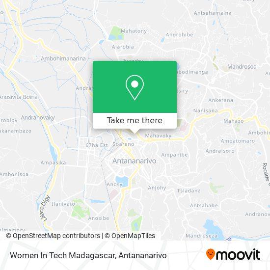 Women In Tech Madagascar map
