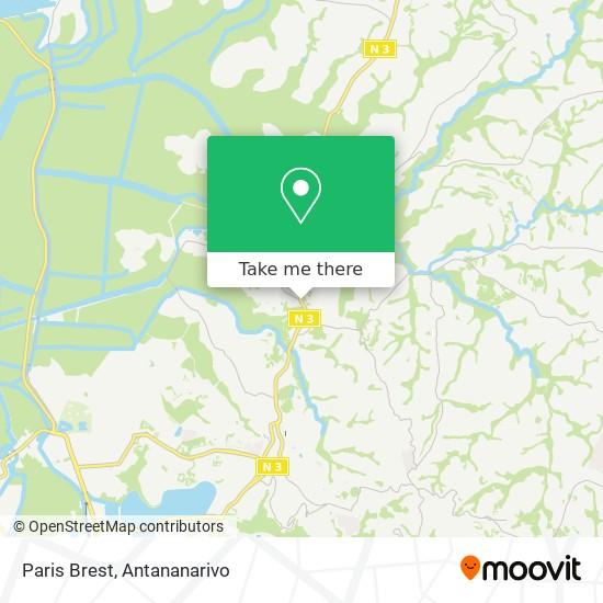 Paris Brest map