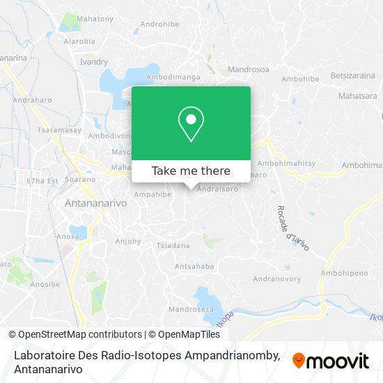Laboratoire Des Radio-Isotopes Ampandrianomby map