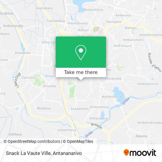 Snack La Vaute Ville map