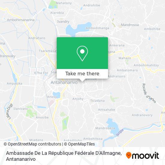 Ambassade De La République Fédérale D'Allmagne map