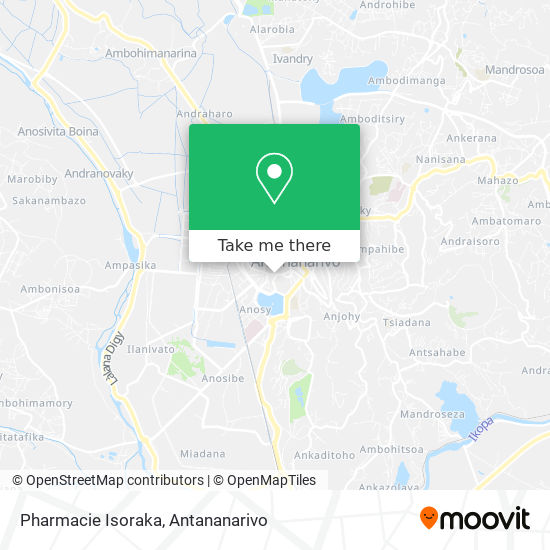Pharmacie Isoraka map