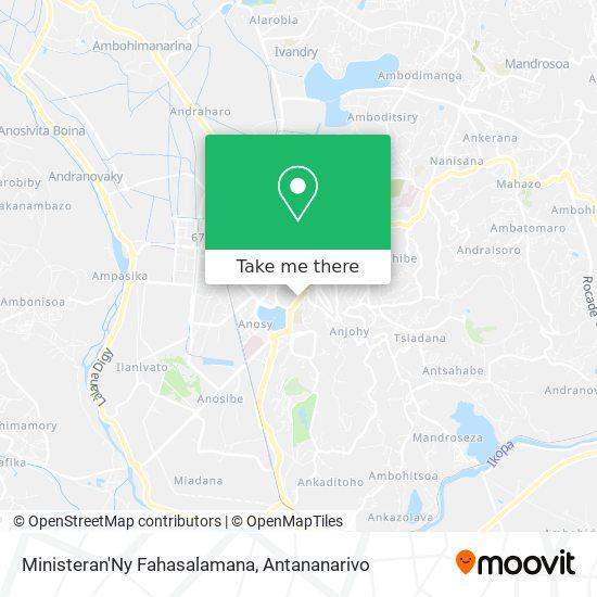 Ministeran'Ny Fahasalamana map