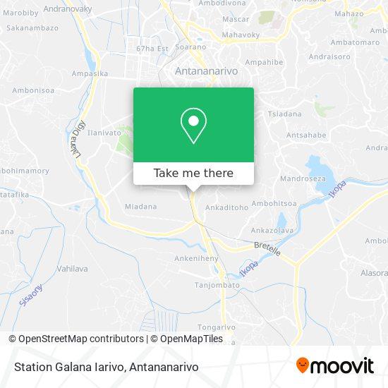 Station Galana Iarivo map
