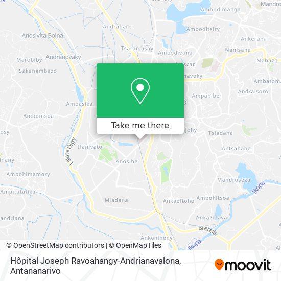 Hôpital Joseph Ravoahangy-Andrianavalona map