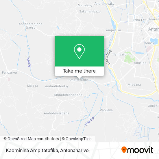 Kaominina Ampitatafika map