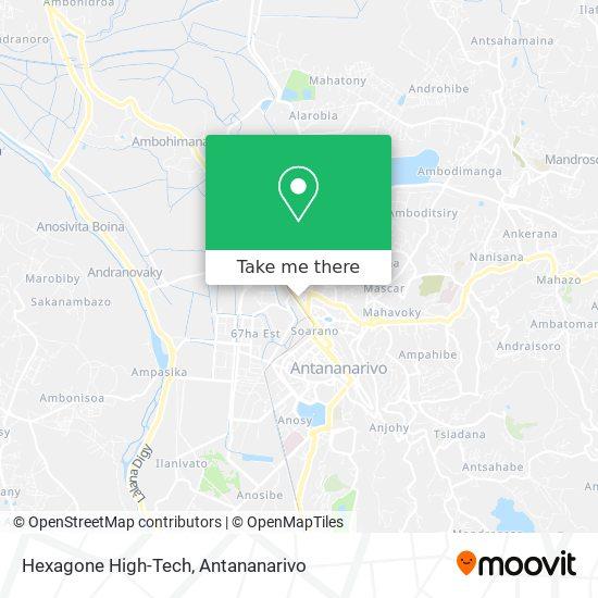 Hexagone High-Tech map
