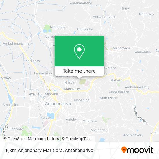 Fjkm Anjanahary Maritiora map