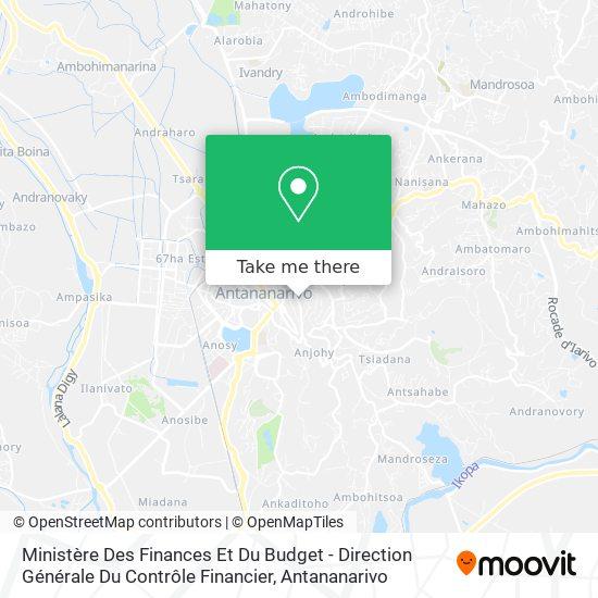 Ministère Des Finances Et Du Budget - Direction Générale Du Contrôle Financier map