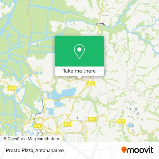 Presto Pizza map