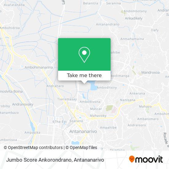 Jumbo Score Ankorondrano map
