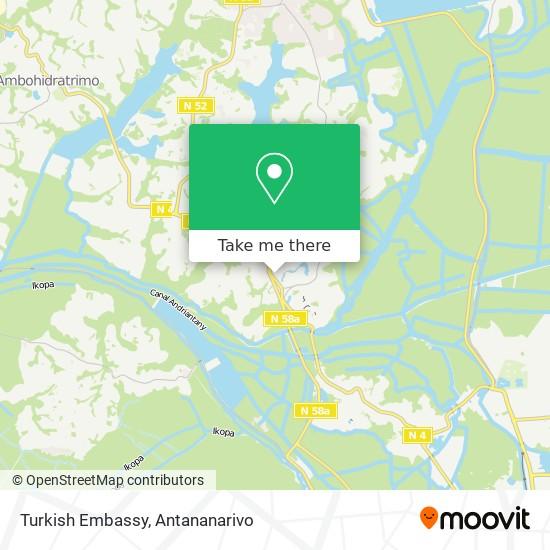 Turkey Embassy map