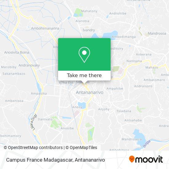 Campus France Madagascar map