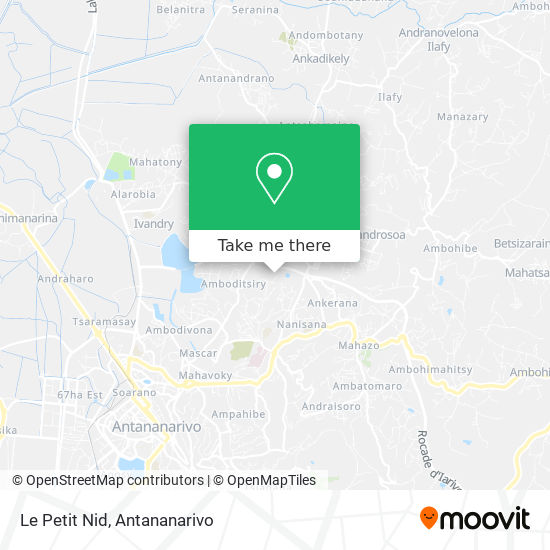 Le Petit Nid map