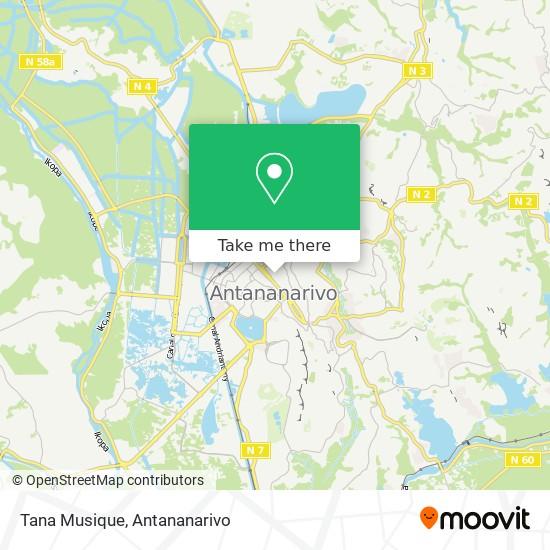 Tana Musique map