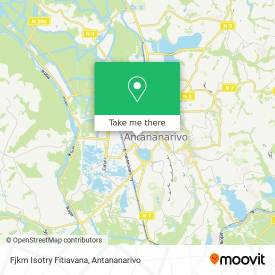Fjkm Isotry Fitiavana map