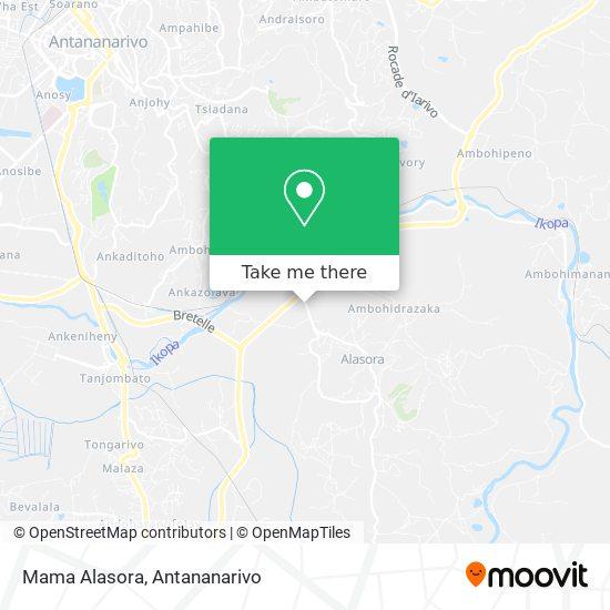 Mama Alasora map