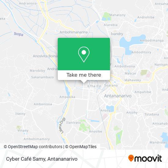 Cyber Café Samy map