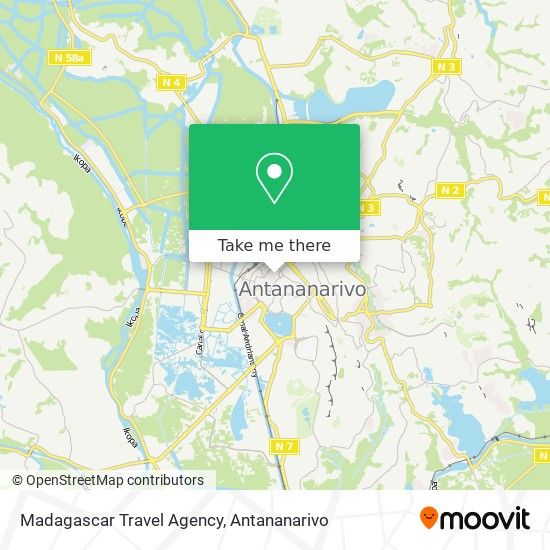 Madagascar Travel Agency map