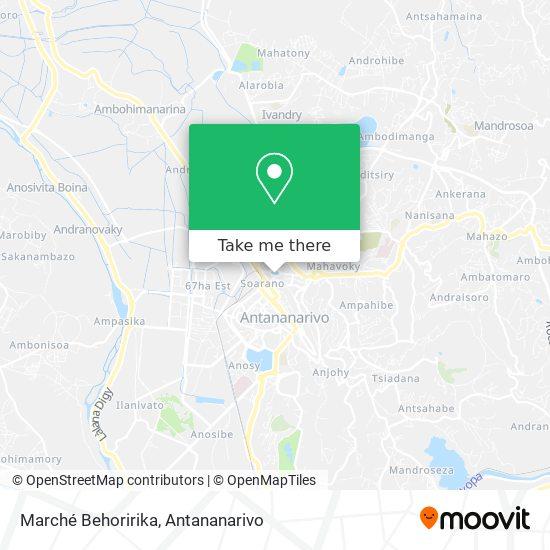 Marché Behoririka map