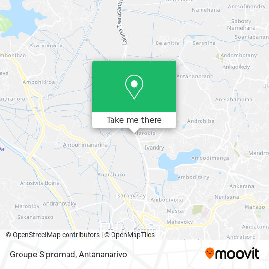 Groupe Sipromad map