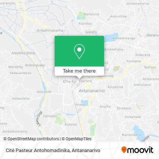Cité Pasteur Antohomadinika map