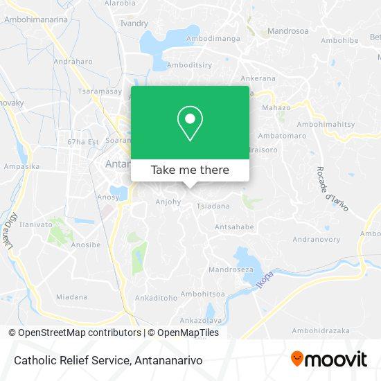 Catholic Relief Service map