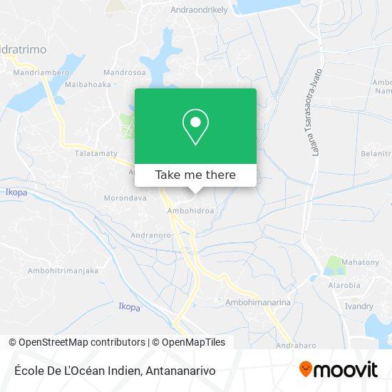 École De L'Océan Indien map
