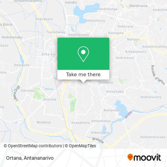 Ortana map