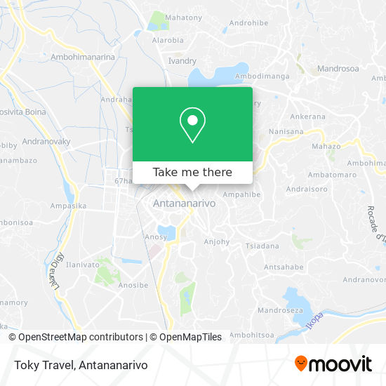 Toky Travel map
