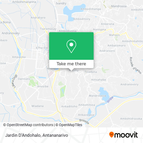 Jardin D'Andohalo map