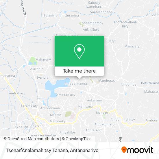Tsenan'Analamahitsy Tanàna map