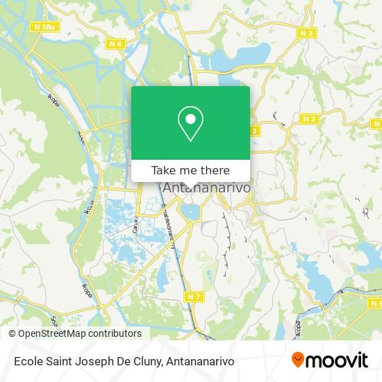 Ecole Saint Joseph De Cluny map
