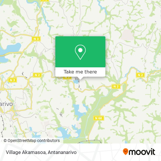 Village Akamasoa map