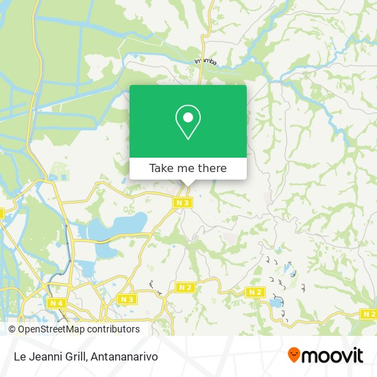Le Jeanni Grill map
