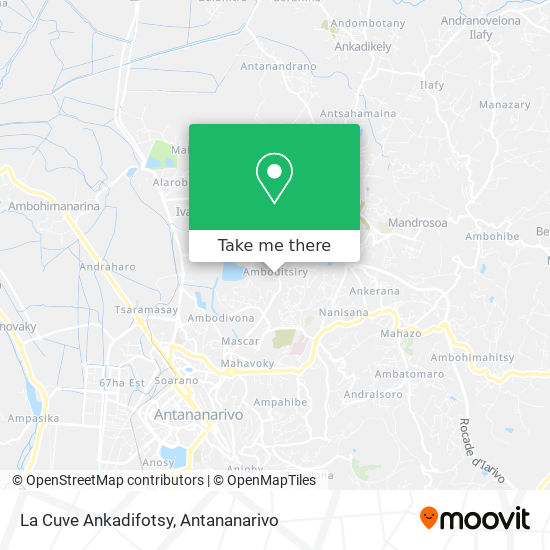 La Cuve Ankadifotsy map