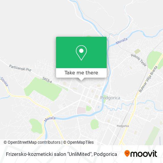 "Frizersko-kozmeticki salon ""UnliMited"" map"