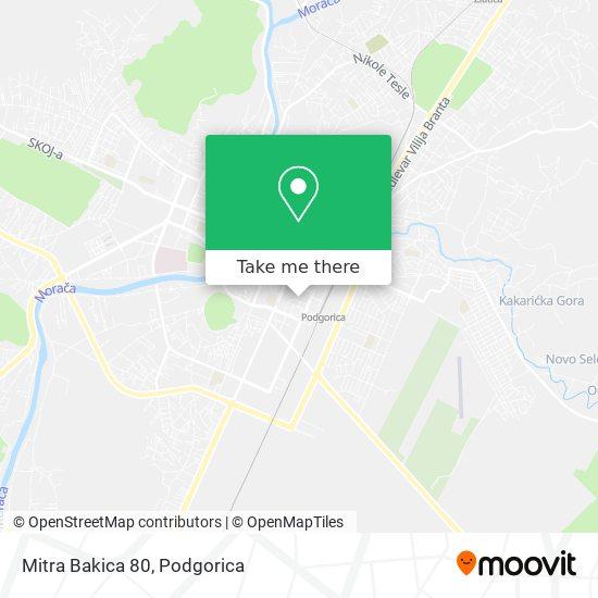 Mitra Bakica 80 map