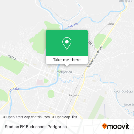 Stadion FK Buducnost map