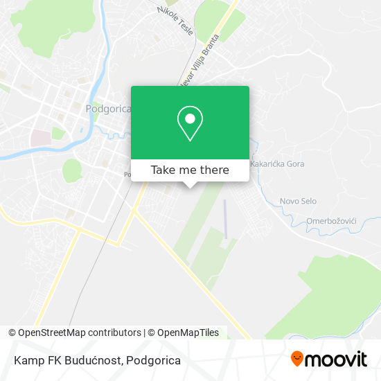 Kamp FK Budućnost map
